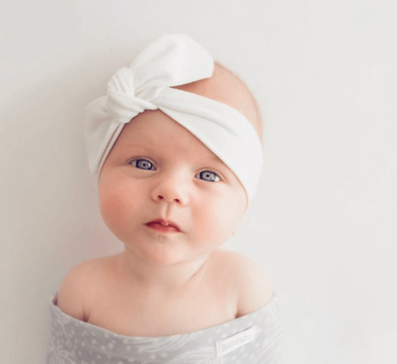 Topknot Headband - White - Snuggle Hunny Kids