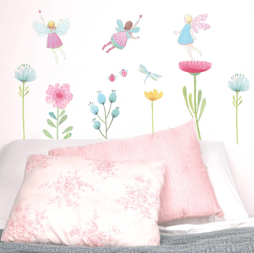 Fabric Wall Decals- Fairy Garden - Love Mae - Wall Sticker