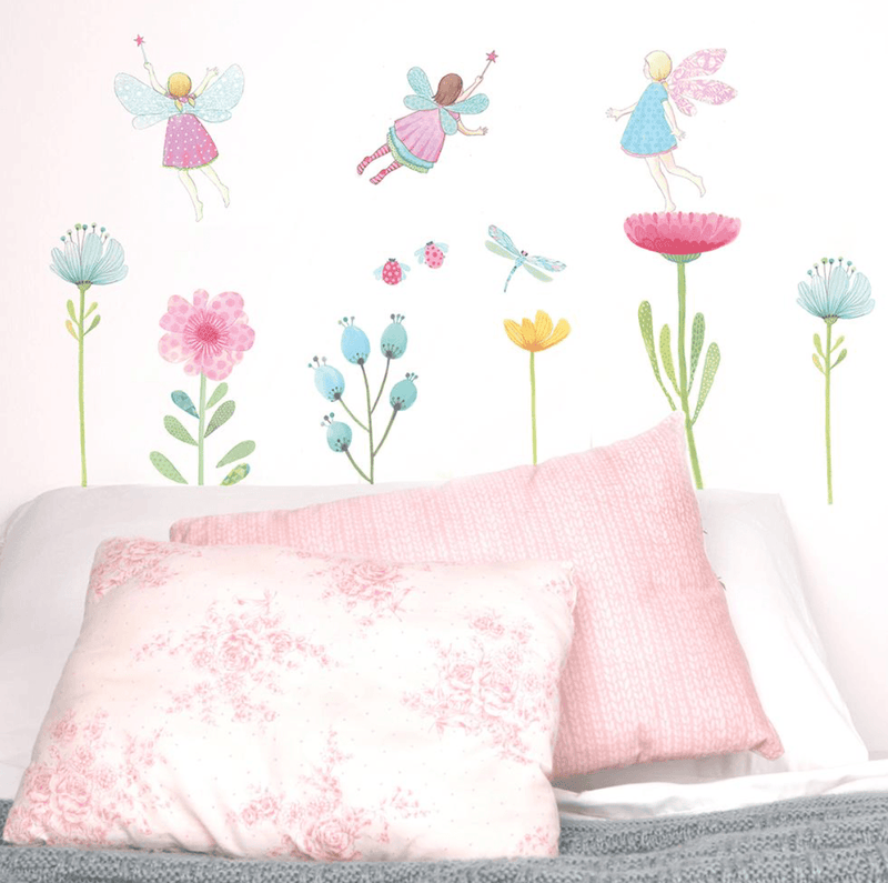 b834e42c49 Fabric Wall Decals- Fairy Garden - Love Mae - Wall Sticker