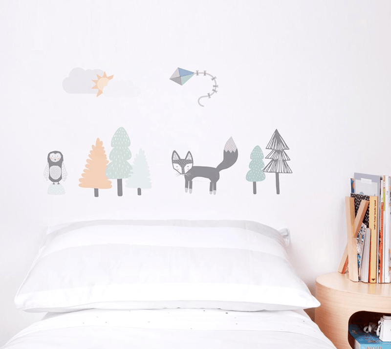 Fabric Wall Decals- Fox & Friends - Love Mae - Wall Sticker