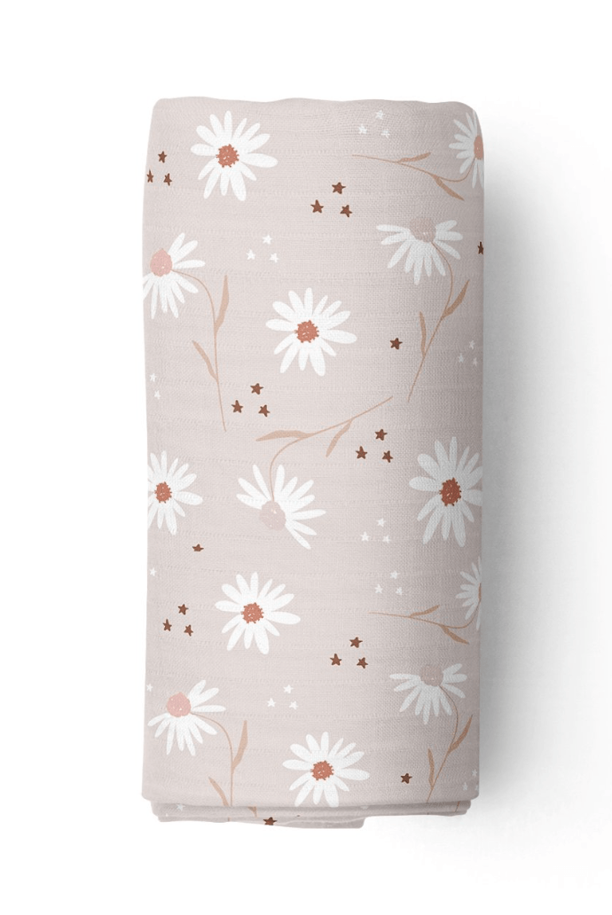 Daisy Fields- Bamboo swaddle blanket - Piper Bug