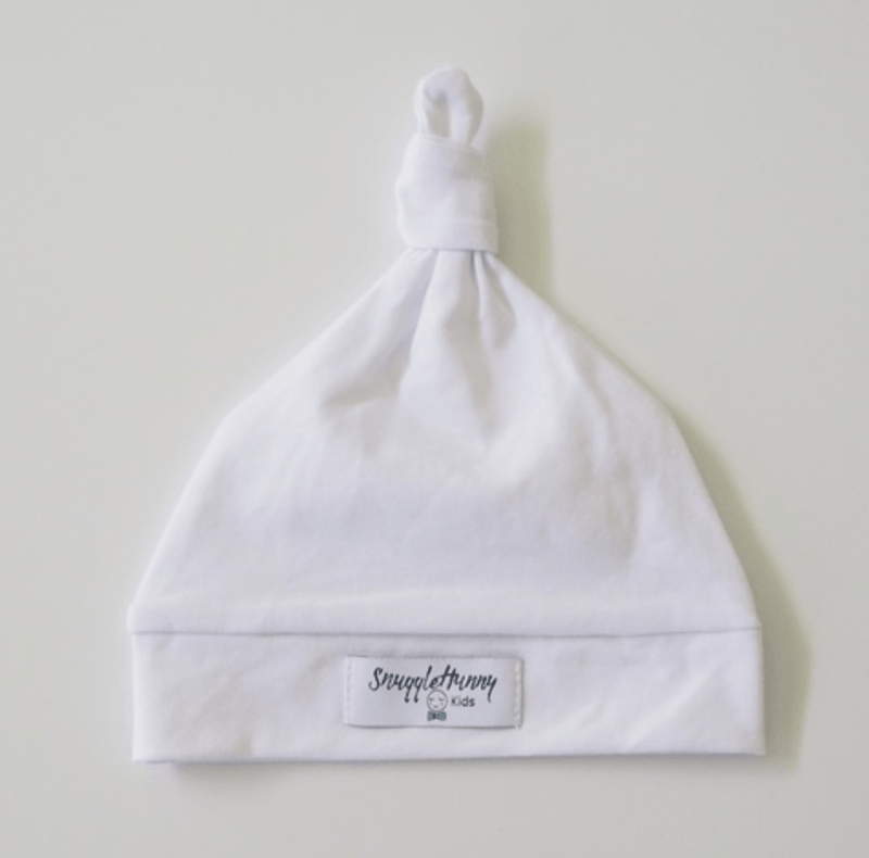 Baby Knotted Beanie - White - Snuggle Hunny Kids