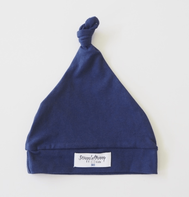 Baby Knotted Beanie - Navy - Snuggle Hunny Kids