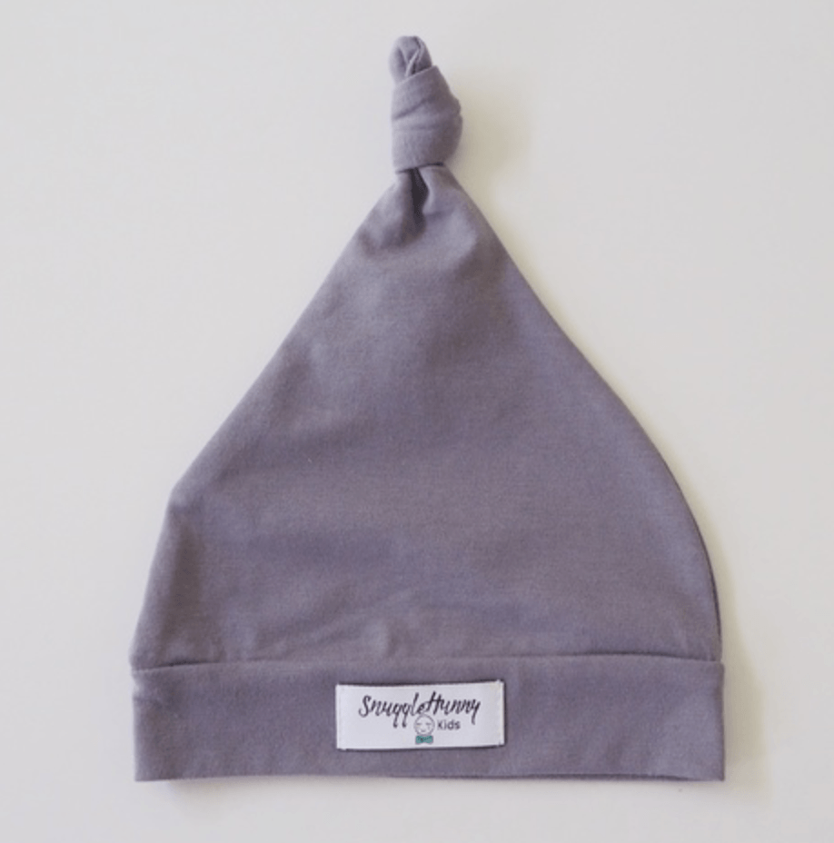 Baby Knotted Beanie - Grey - Snuggle Hunny Kids