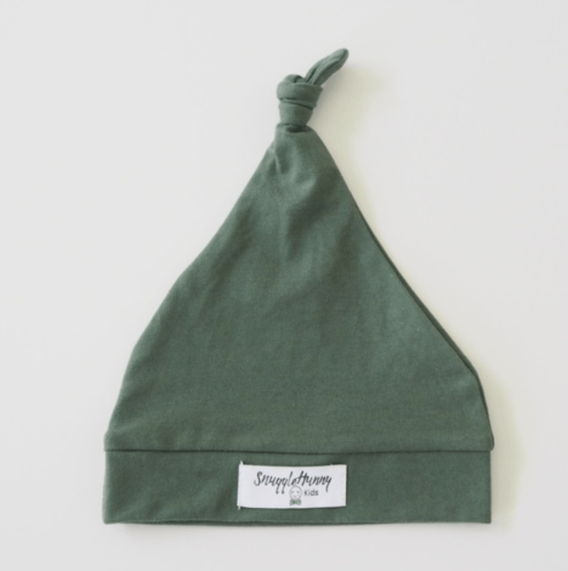 Baby Knotted Beanie - Olive - Snuggle Hunny Kids