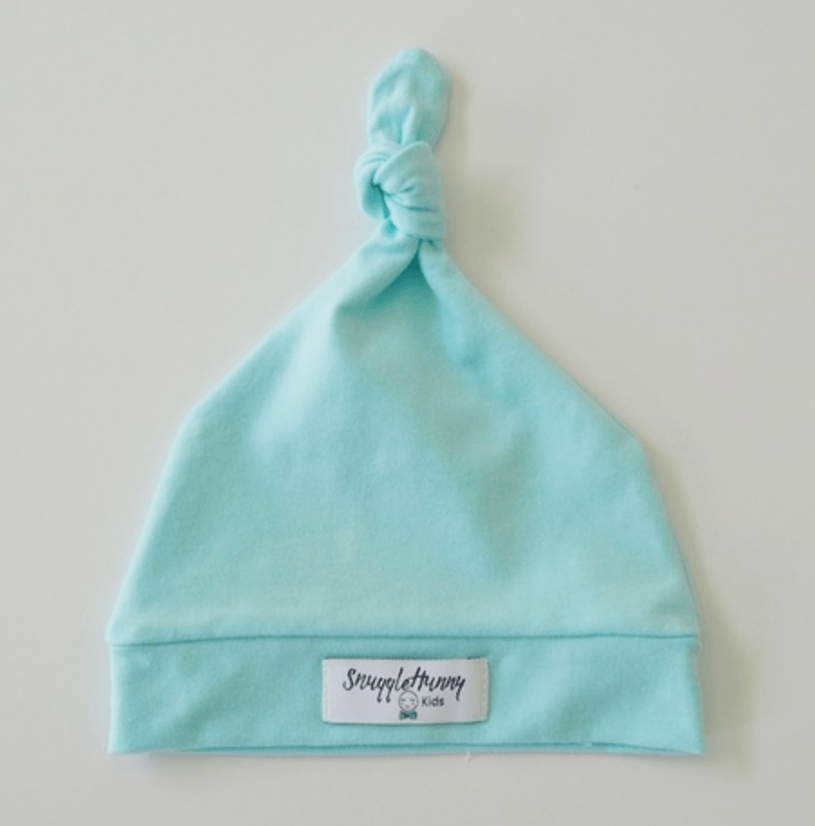 Baby Knotted Beanie - Mint - Snuggle Hunny Kids