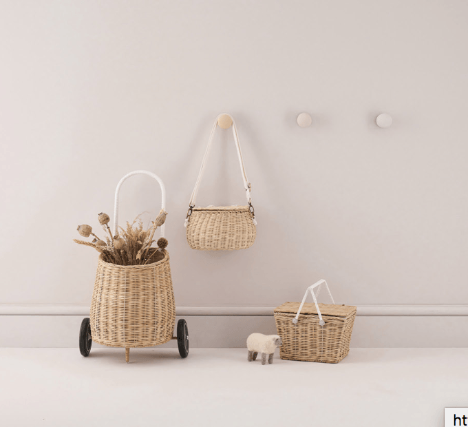 Kids Luggy basket- Straw - Olli Ella