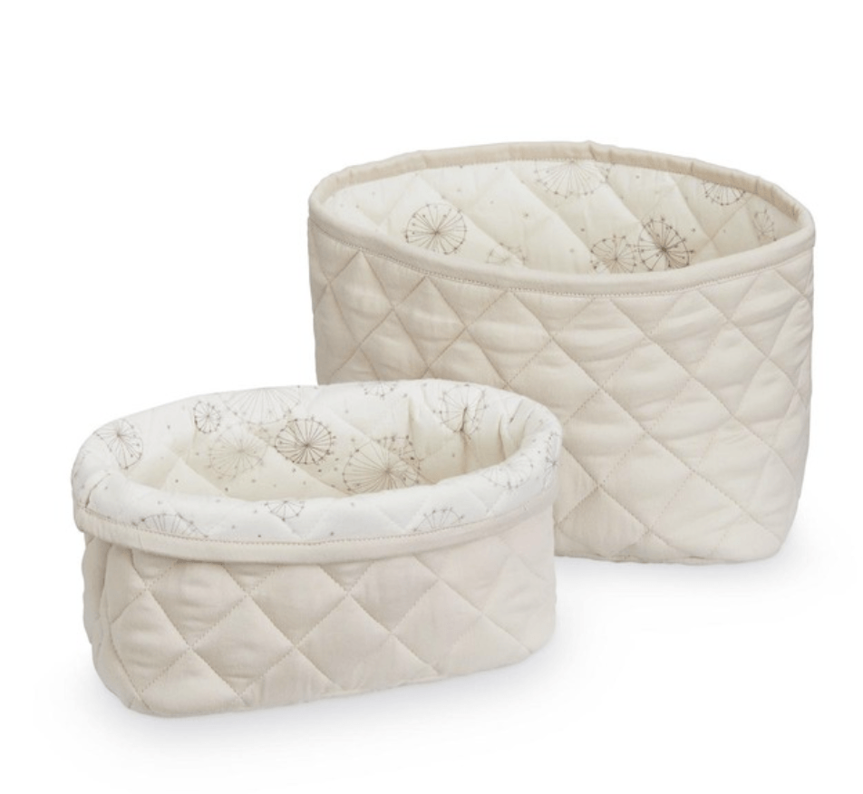 Quilted Storage basket - Sand Dandelion- set of 2 -CAM CAM