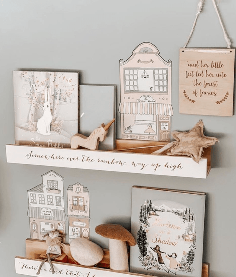 Little Town Blush- Fabric Wall Stickers - Sailah Lane