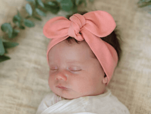 Topknot Headband - Peach - Snuggle Hunny Kids