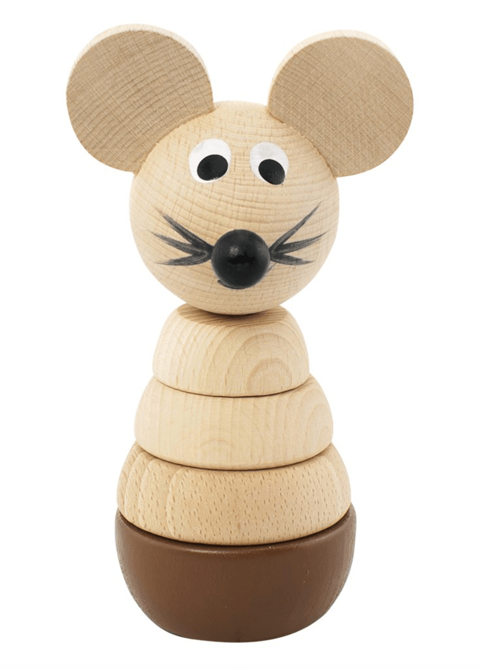 Wooden Stacking Mouse Puzzle - Murphy - Happy Go Ducky