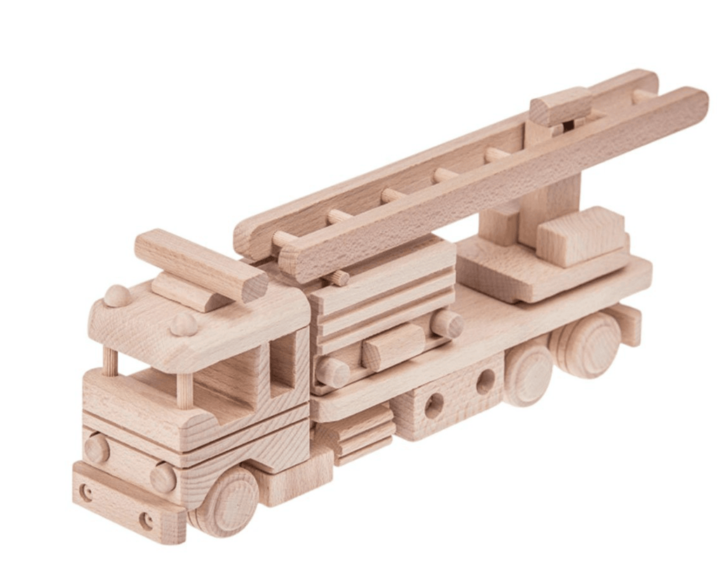 Wooden Fire Truck - Welles - Happy Go Ducky