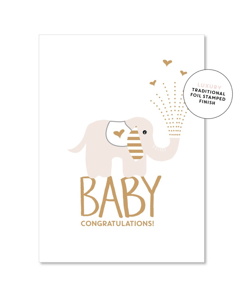 Card - Baby Elephant - Just Smitten