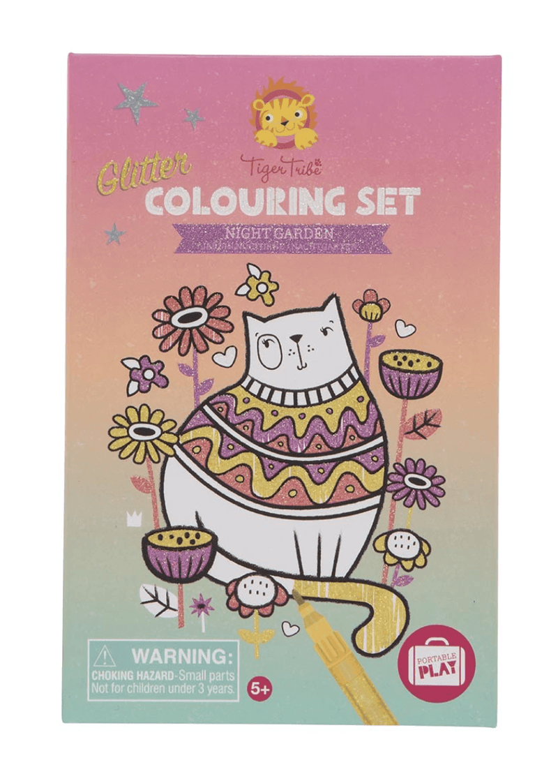 Glitter Colouring Set- Night Garden- Tiger Tribe