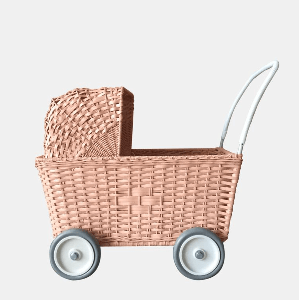 Strolley - Rose Pink - Olli Ella. Shopping trolley | dolls pram | buggy