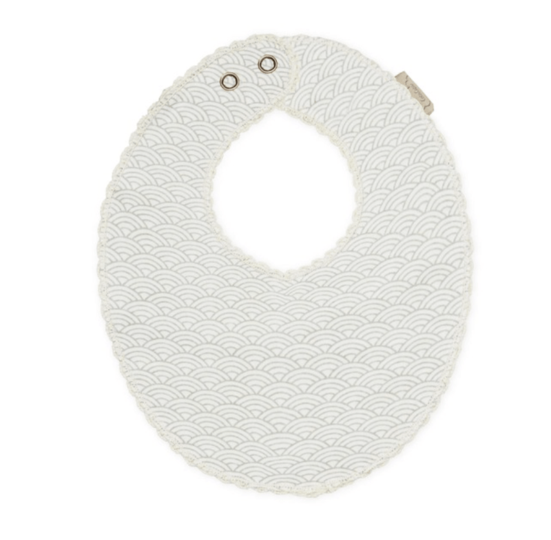 Grey Wave Muslin Teething Bib - CAM CAM Copenhagen