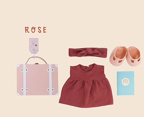 Dinkum Doll Rose Travel Tog - Olli Ella