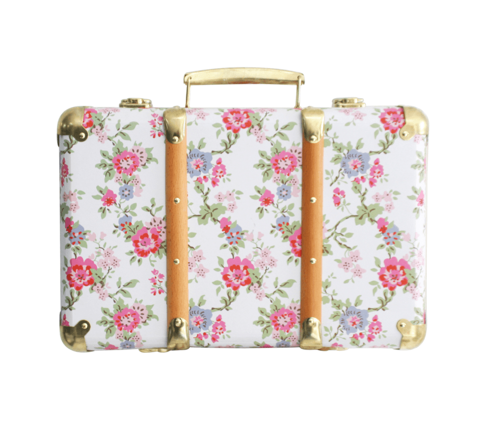 Vintage Suitcase- Cottage Rose-  Alimrose
