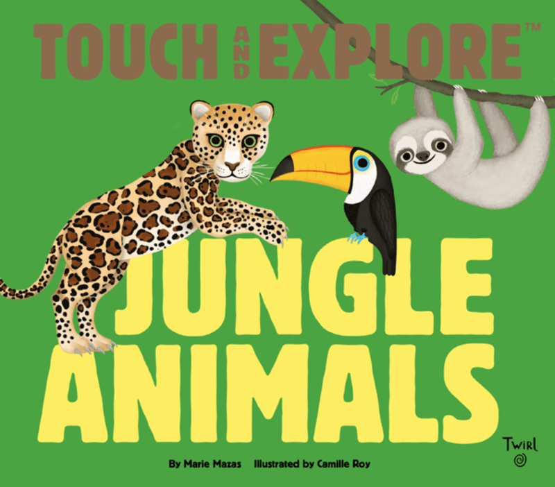 Jungle Animals Touch & Explore - Kids Book