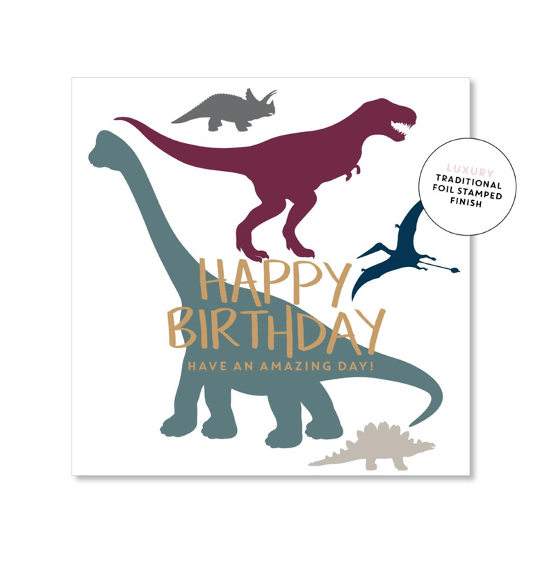 Mini Card -Dinosaur birthday - Just Smitten