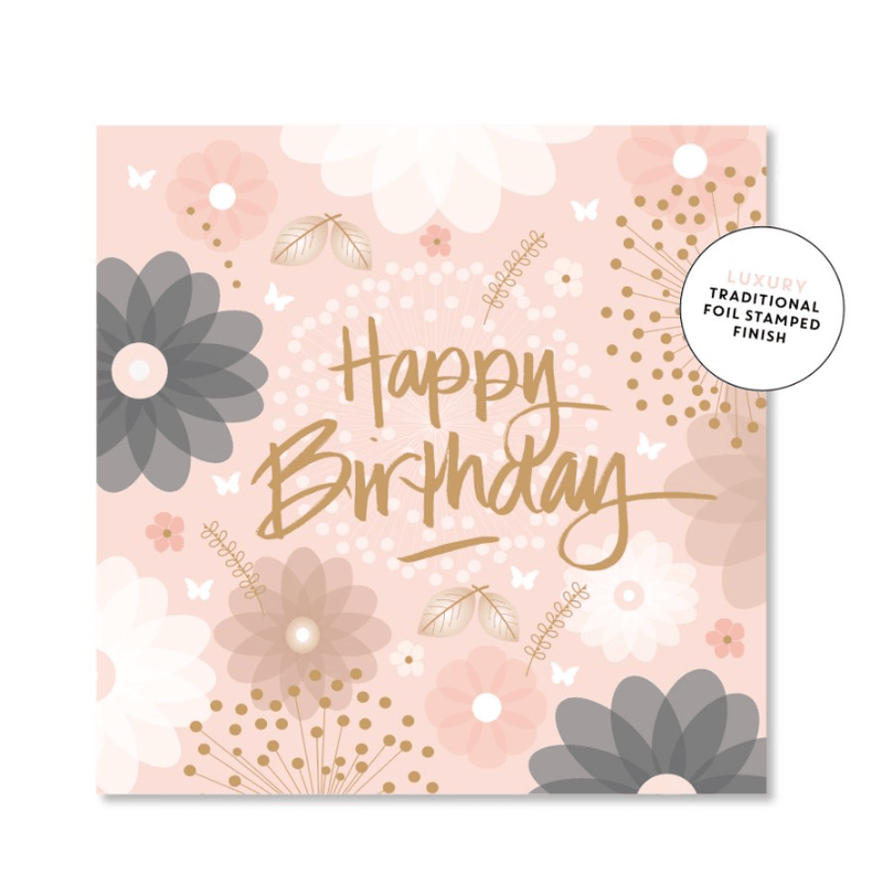 Mini Card -Floral birthday - Just Smitten