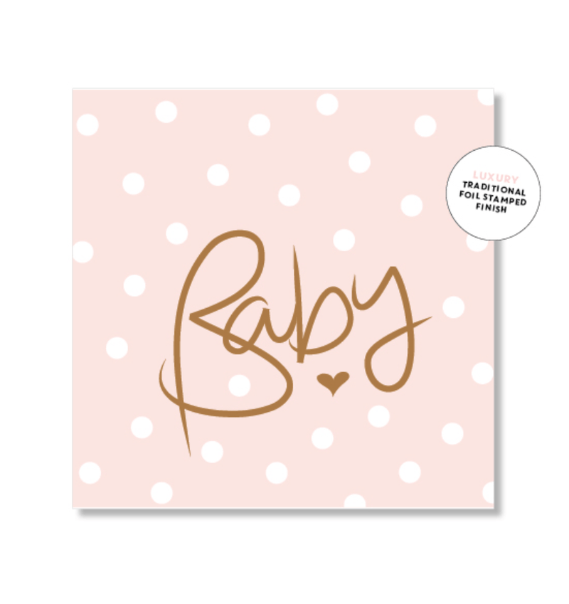 Mini Card -Polkadot pink baby - Just Smitten