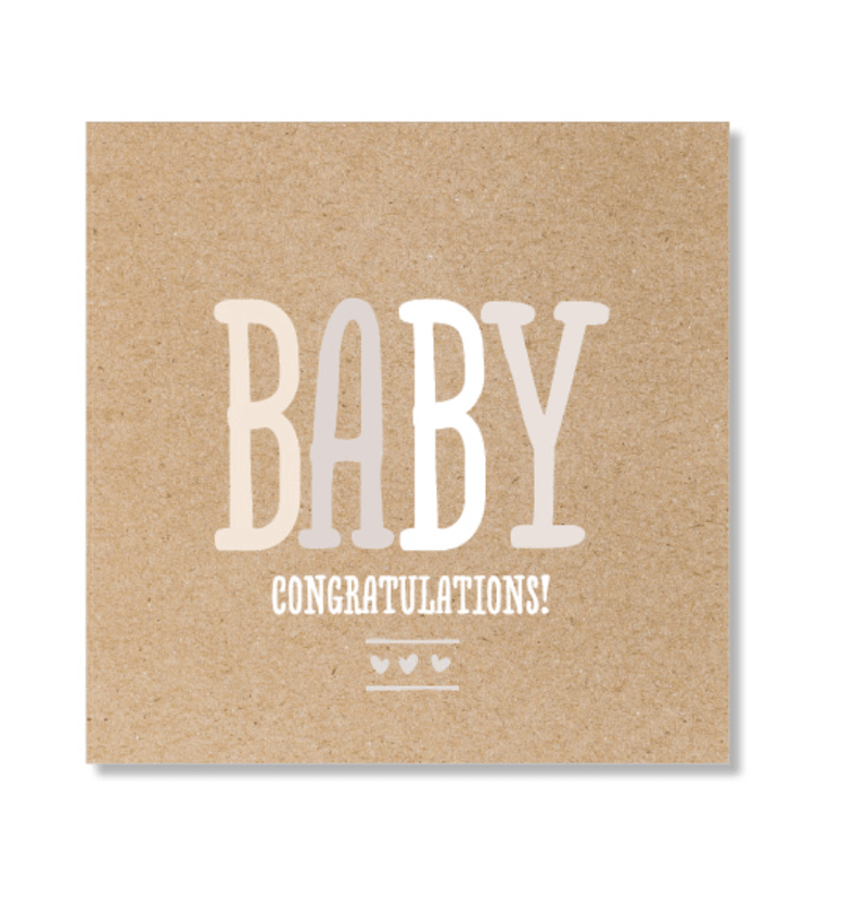 Mini Card -Baby Kraft - Just Smitten