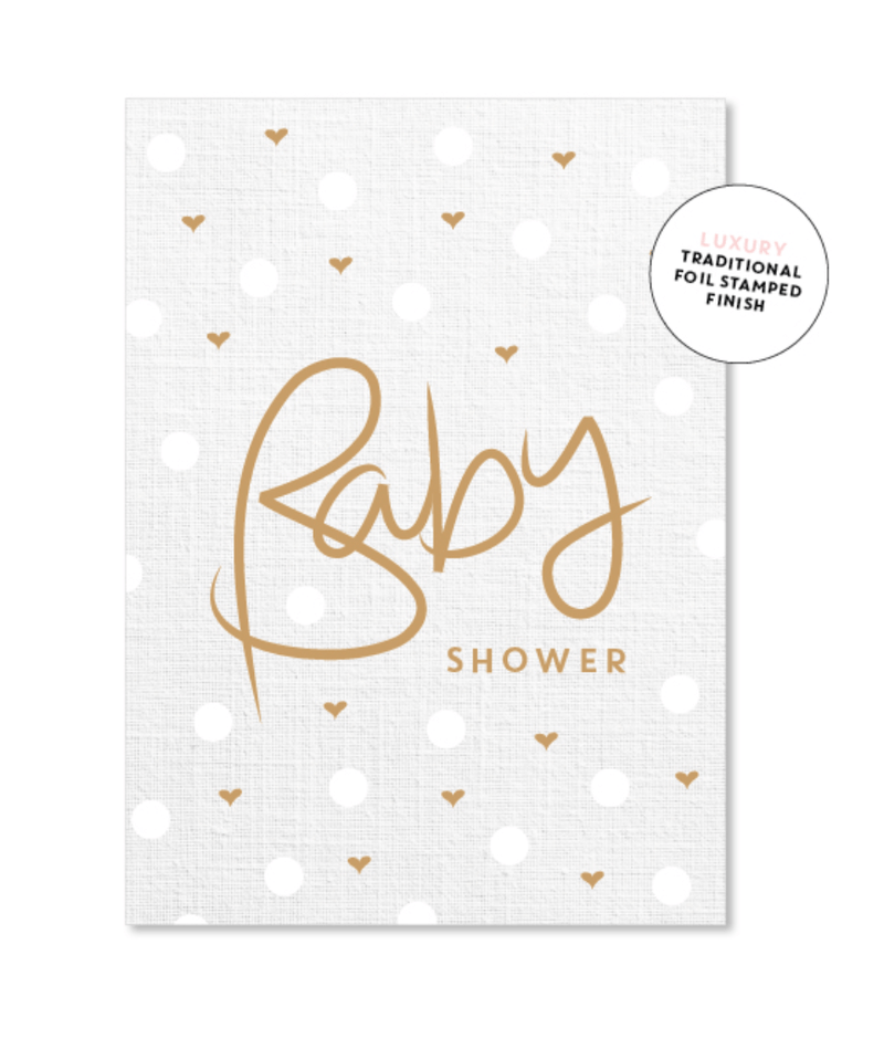 Card - Baby shower polkadot - Just Smitten