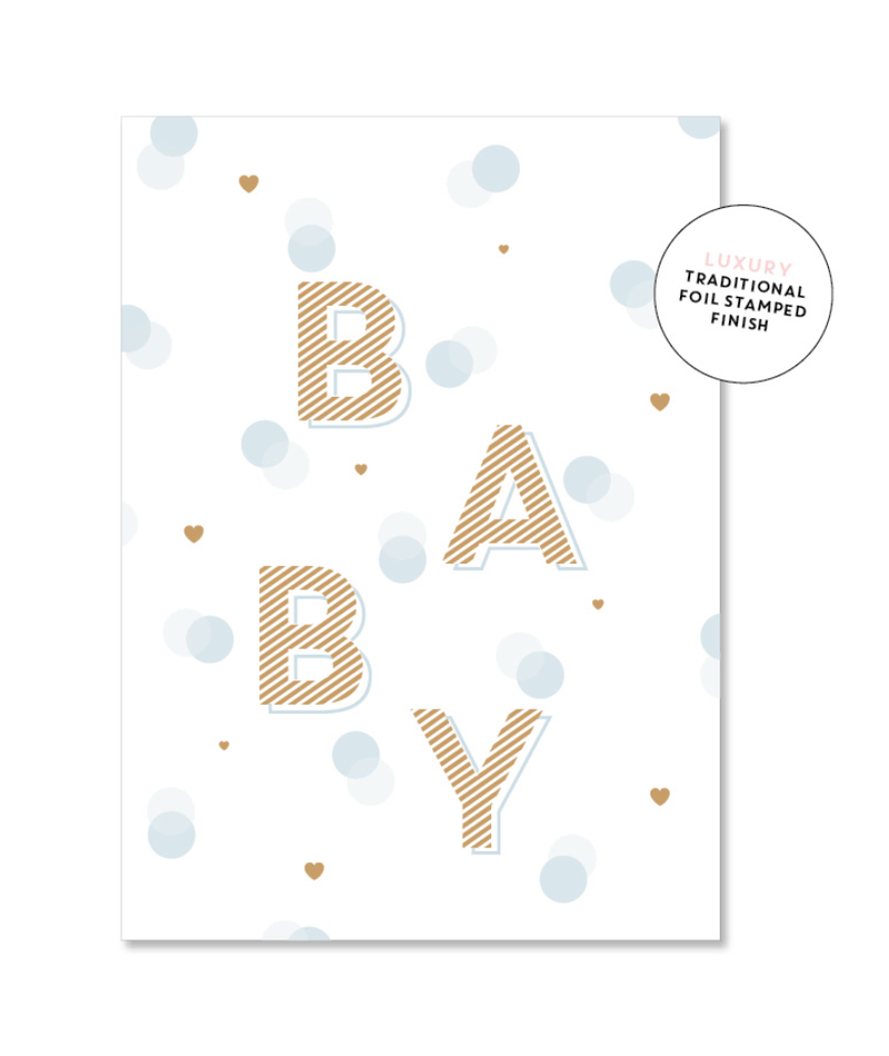 Card - Spotty Baby Boy - Just Smitten