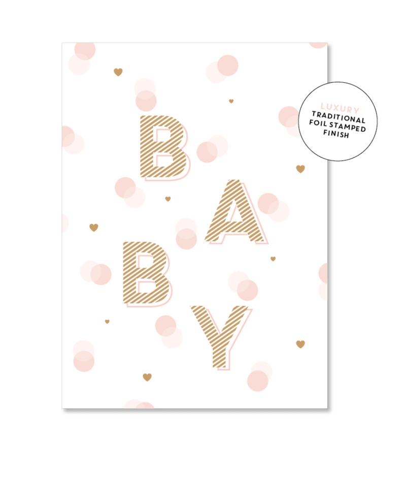 Card - Spotty Baby Girl - Just Smitten