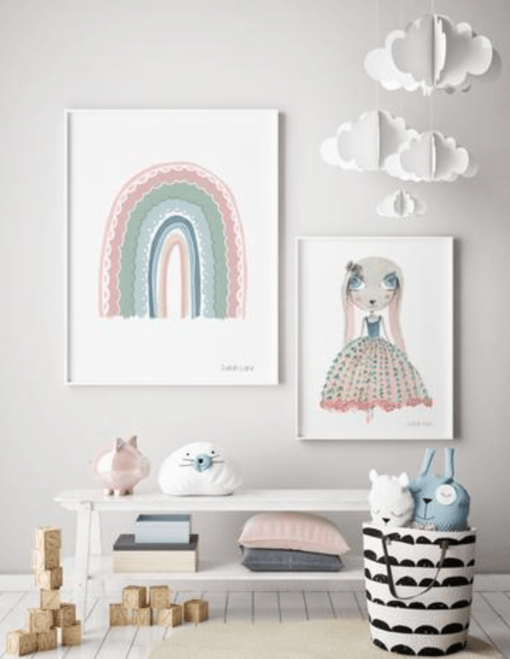 Rainbow Pink- Wall Print - Baby Print - Sailah Lane