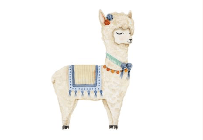 Larry Llama- Wall Print - Baby Print - Sailah Lane