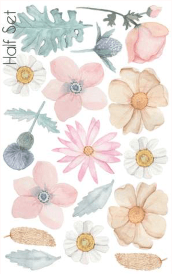 Dusky Bouquet - half set - Fabric Wall Stickers - Sailah Lane