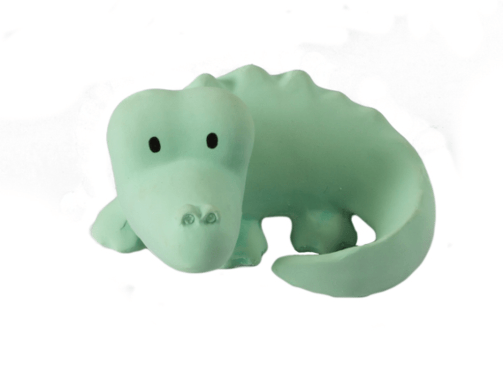Crocodile Rubber Zoo Animal Teether - Tikiri