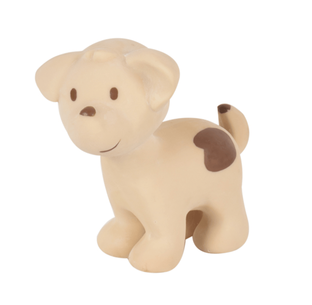 Puppy dog Rubber Farm Animal Teether - Tikiri