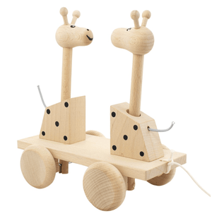 Wooden Pull along Giraffes- Happy Go Ducky