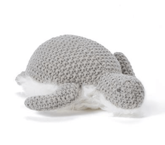 Toby Turtle  Baby Rattle -Grey- Nana Huchy