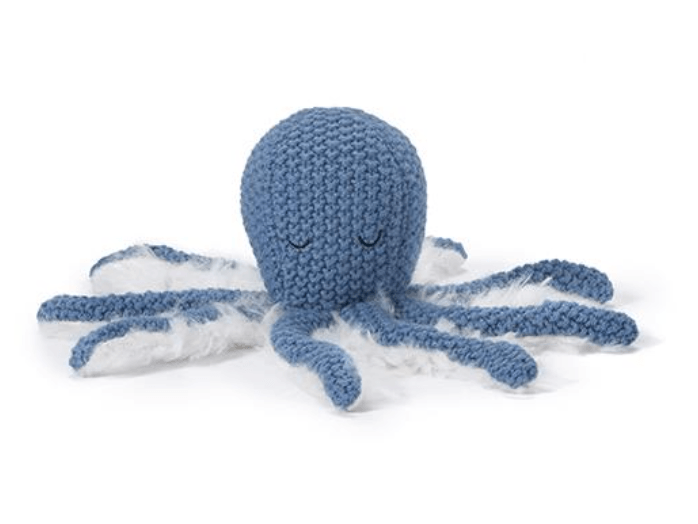 Ollie Octopus Baby Rattle -Blue- Nana Huchy
