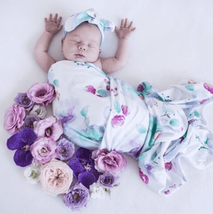 Sweet Petal - Jersey Wrap & Bow Set - Snuggle Hunny Kids