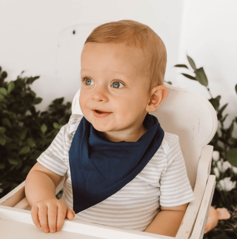 Dribble Bib - Navy - Snuggle Hunny Kids