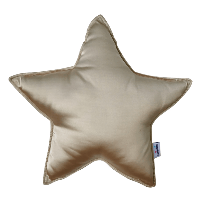 Star Pillow Cushion - Pale Gold- Spinkie