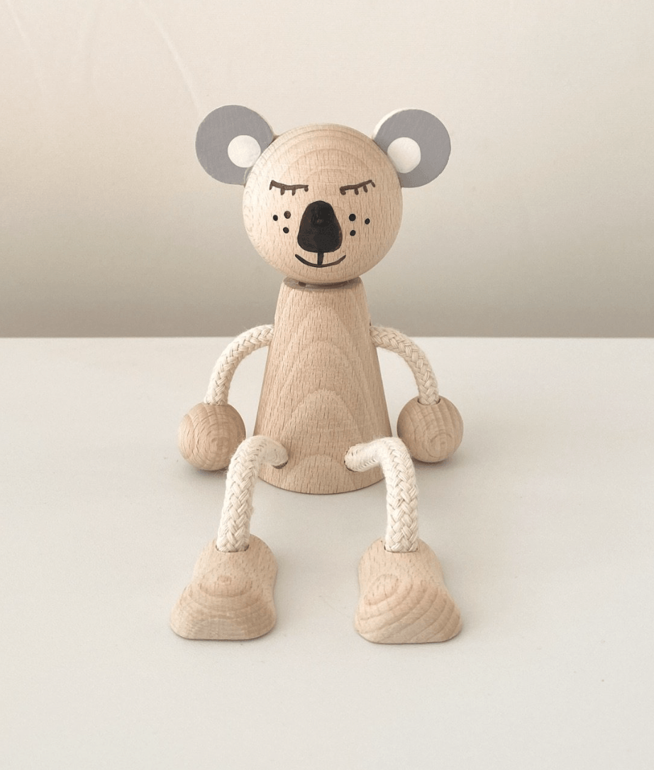 Wooden Sitting Koala - Heath - Happy Go Ducky