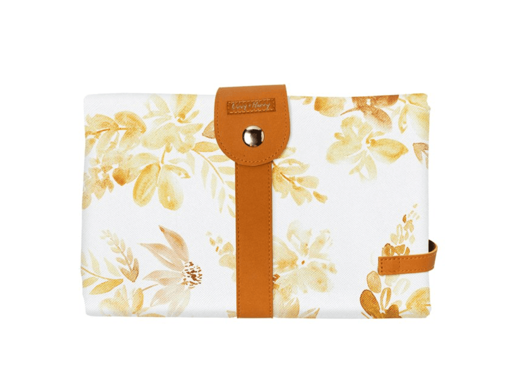 Mustard Floral Change Mat -The Somewhere Co