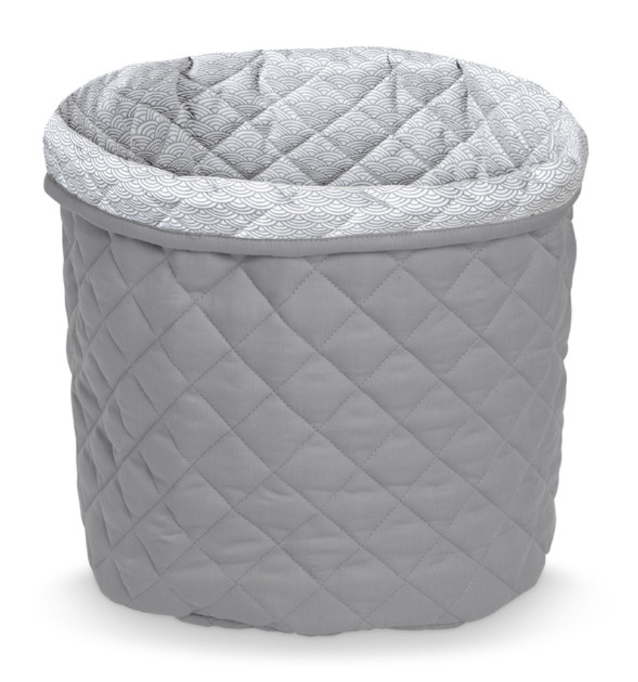 Large Quilted Storage basket - Grey Wave-CAM CAM