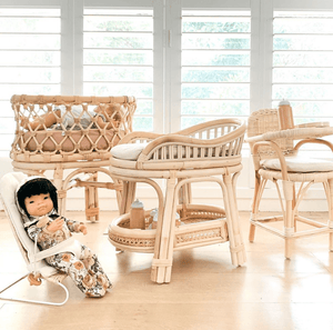 Rattan Doll's Change Table - Tiny Harlow