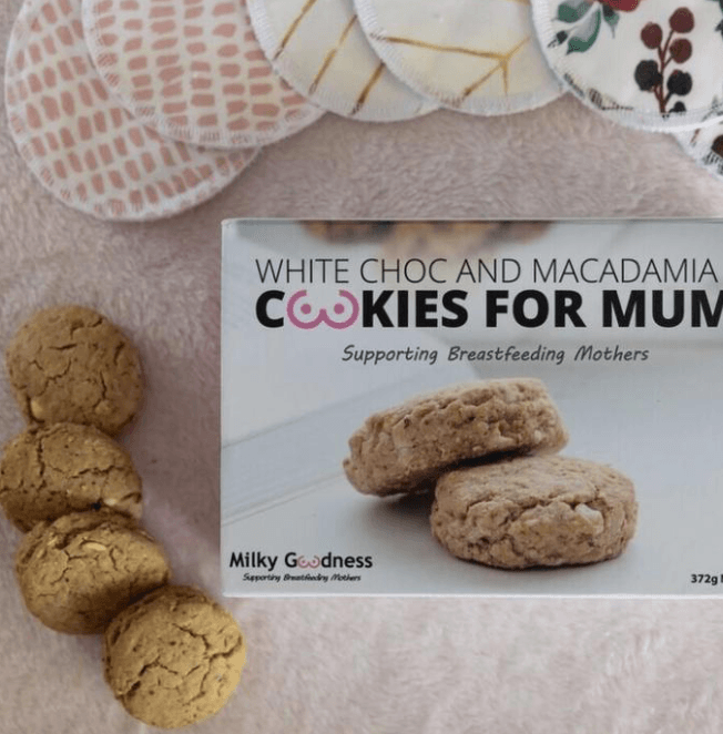 White Choc Chip & Macadamia Lactation Cookies - Milky Goodness