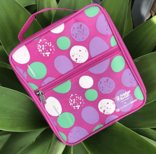 Fridge to Go Lunch Bag - Pink Spots - My Family DISCOUNTED