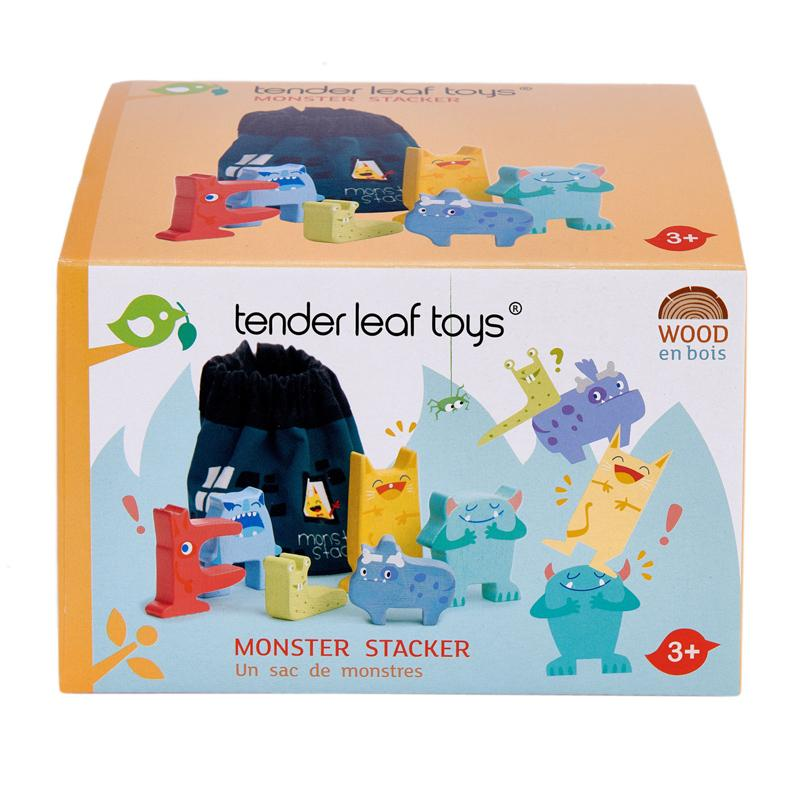 Monster Stackers with Bag - Tender Leaf Toys DISCOUNTED