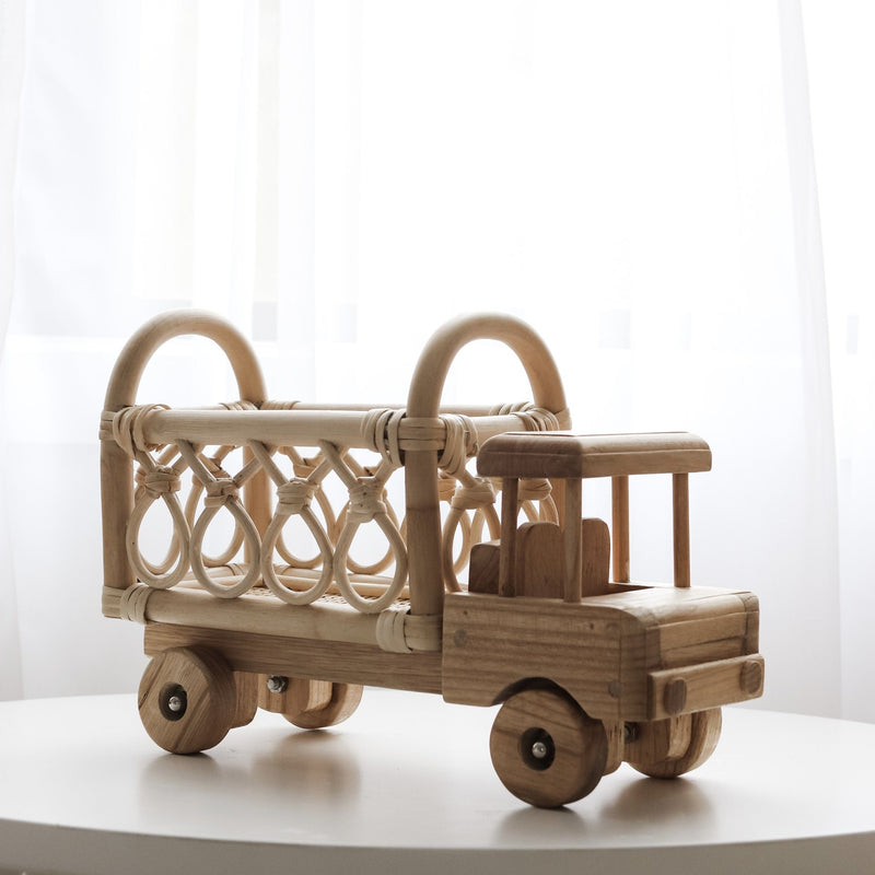 Small Rattan Toy Truck - Tiny Harlow - PRE-ORDER - Due late October