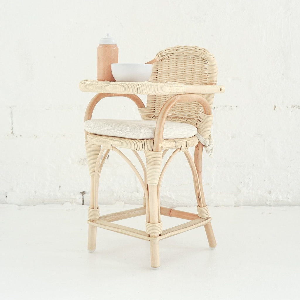 Rattan Doll's Highchair - Tiny Harlow - PRE-ORDER - Due late October